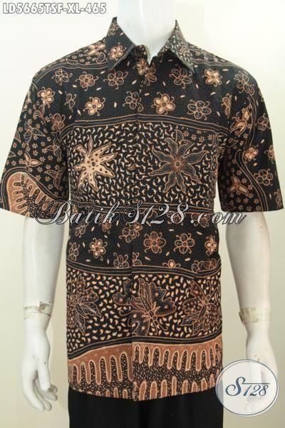 Gambar model baju batik pria modern terbaru