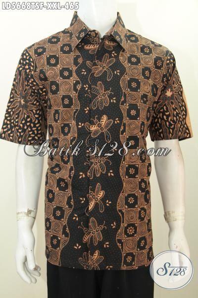Baju Hem Batik 3L Kwalitas Bagus Harga 400 Ribuan, Hadir Dengan Motif Berkelas Proses Tulis Soga Daleman Pake Furing Pria Gemuk Terlihat Lebih Mempesona [LD5668TSF-XXL]
