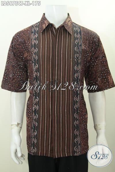 Baju Batik Elegan Buatan Solo, Hem Batik Lengan Pendek Motif Terkini, Baju Batik Cowok Size XL Kwalitas Istimewa Proses Cap Tulis
