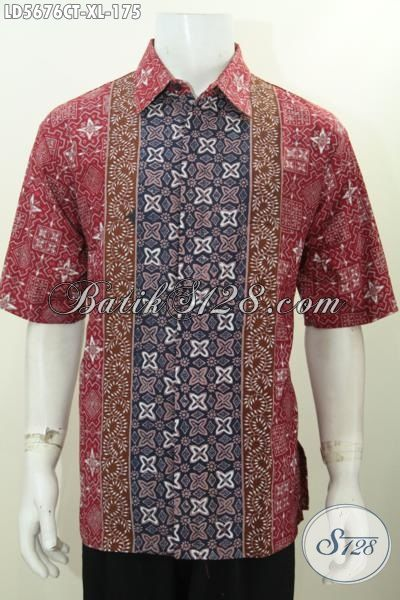 Jual Online Busana Batik Lelaki Dewasa Dengan Kombinasi Motif Keren Berbahan Halus, Baju Batik Cap Tulis Istimewa Buatan Solo Harga Lebih Terjangkau, Size XL