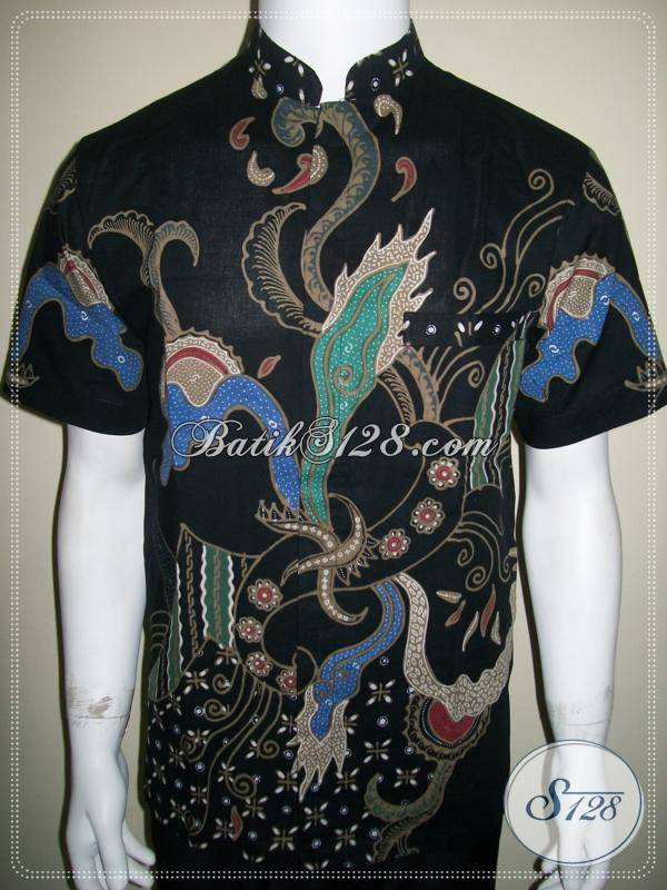 Baju Batik Pria Kerah Shanghai Kemeja Batik Tulis Keren