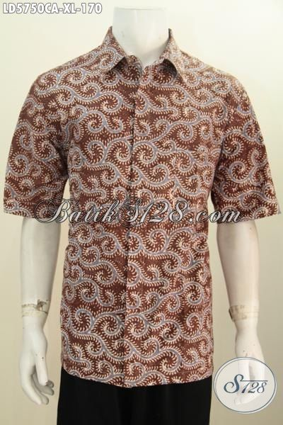 Hem Batik Cap Warna Alam Buatan Solo Spesial Buat Pria Dewasa Karir Aktif, Baju Istimewa Trend Mode Masa Kini Buat Santai Dan Jalan-Jalan, Size XL