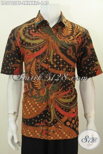 Jual Online Kemeja Batik Elegan Kwalitas Bagus Motif Mewah Proses Kombinasi Tulis, Pakaian Batik Istimewa Buatan Solo Untuk Penampila Lebih Berkelas, Size L – XXL