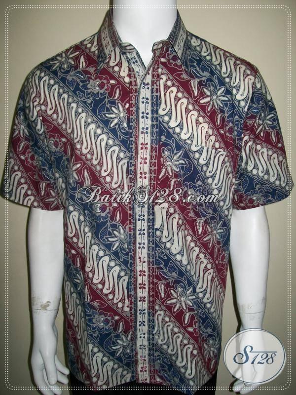 Baju Batik Laki-Laki Muda Dewasa, Untuk Kerja Kantor [LD578CTC-L]