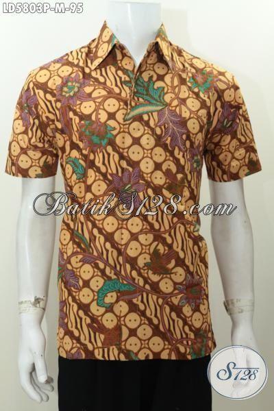 Baju Hem Lengan Pendek Motif Klasik Proses Printing, Hem Batik Prang Bunga Istimewa Di Jual Onine Harga 95K