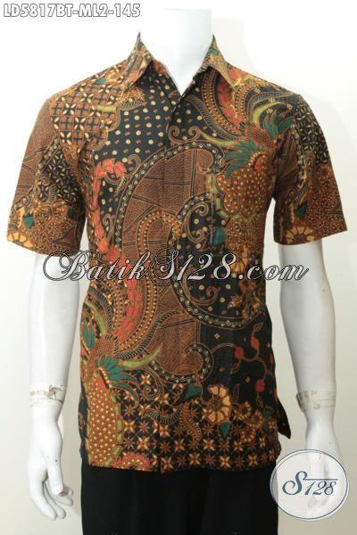 Produk Terbaru Lelaki Buatan Solo, Kemeja Batik Elegan Istimewa Kwalitas Halus Motif Mewah Kombinasi Tulis, Size M – L