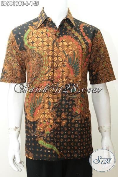 Hem Batik Elegan Size L Produk Terkini Dari Solo, Pakaian Batik Modis Berbahan Adem Proses Kombinasi Tulis Model Lengan Pendek Cocok Buat Kerja
