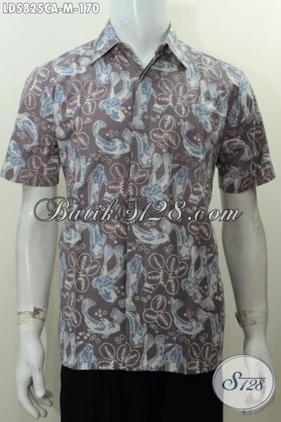 Jual Baju Batik Cap Warna Alam Kwalitas Bagus Dan Istimewa, Busana Batik Keren Halus Trend Masa Kini Bahan Adem Model Lengan Pendek Untuk Penampilan Lebih Mempesona, Size M