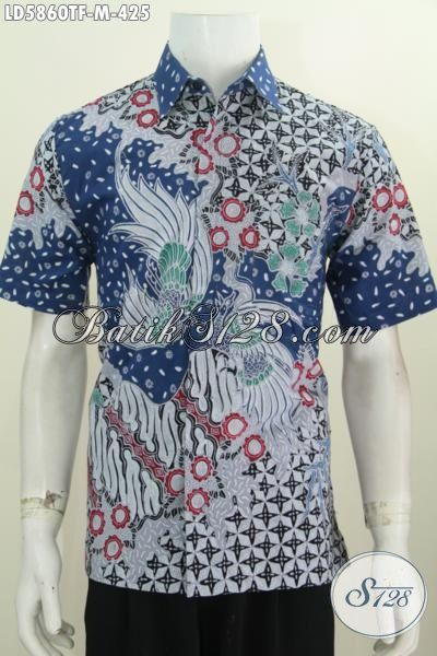 Hem Bati Tulis Full Furing, Kemeja Batik Halus Lengan Pendek Motif Mewah Bahan Adem Nyaman Di Pakai, Size M
