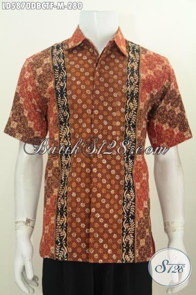 Produk Baju Batik Elegan Lengan Pendek Full Furing, Hem Batik Kain Dolby Motif Halus Cap Tulis Untuk Penampilan Lebih Gaya Dan Istimewa, Size M