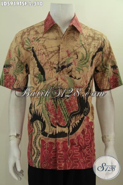 Kemeja Batik Hem Ukuran L Desain Motif Keren Dan Modern, Hem Batik Premium Lengan Pendek Proses Tulis Soga Daleman Full Furing Bikin Pria Tampil Lebih Percya Diri