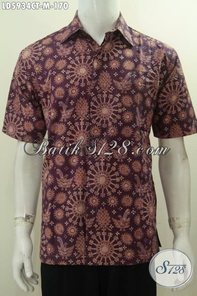 Batik Hem Keren Warna Elegan Motif Unik Proses Cap Tulis, Kemeja Batik Kawula Muda Untuk Kerja Dan Santai, Size M