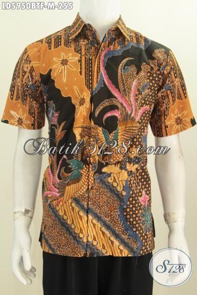 Jual Online Hem Batik Pria Motif Bagus Banget, Busana Batik Lengan Pendek Pake Furing Kwalitas Istimewa Proses Kombinasi Tulis Ukuran M