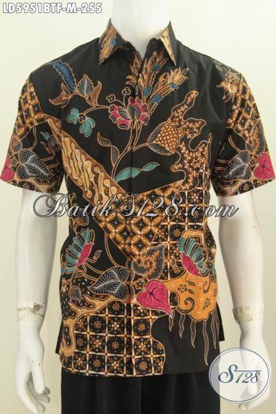 Produk Busana Batik Modis Halus Kwalitas Istimewa, Pakaian Kerja Bahan Batik Kombinasi Tulis Model Lengan Pendek Full Furing Tampil Lebih Gaya, Size M