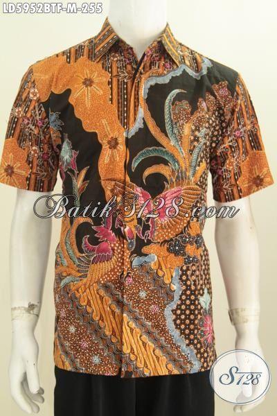 Hem Batik Modern Motif Mewah Kwalitas Bagus, Jual Online Kemeja Batik Istimewa Dari Solo Daleman Pake Furing Proses Kombinasi Tulis Untuk Kerja Dan Pesta, Size M