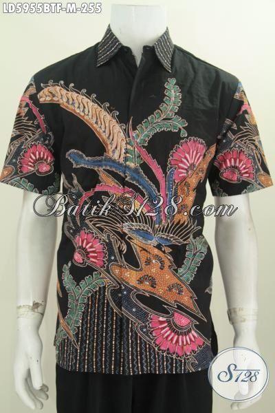 Sedia Pakaian Batik Istimewa Lengan Pendek Motif Bagus Kombinasi Tulis, Pakaian Batik Berkelas Daleman Full Furing Untuk Terlihat Lebih Modis Dan Stylish, Size M