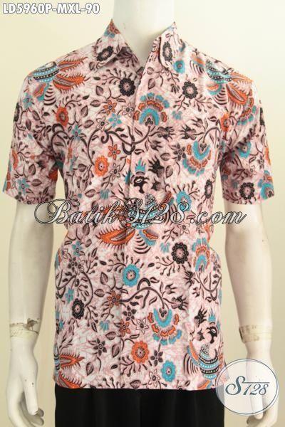 Busana Batik Bagus Harga Murmer, Pakaian Batik Istimewa Buatan Solo Model Lengan Pendek Proses Printing Untuk Santai Dan Jalan-Jalan, Size M – XL