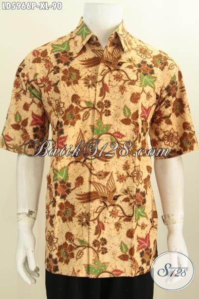 Sedia Produk Kemeja Batik Halus Warna Elegan, Pakaian Batik Berkelas Proses Printing Motif Terkini Untuk Kerja Dan Santai, Size XL