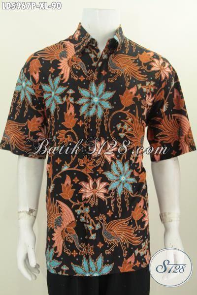 Produk Terbaru Pakaian Batik Istimewa Buatan Solo, Baju Batik Istimewa Kwalitas Halus Proses Printing Trend Mode Masa Kini Untuk Penampilan Terlihat Istimewa, Size XL