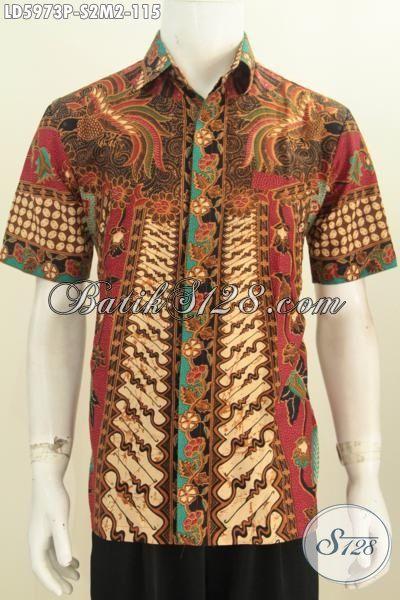 Jual Baju Hem Batik Klasik Proses Printing, Kemeja Batik Elegan Untuk Kawula Muda Masa Kini Tampil Gagah Berwibawa, Size S – M