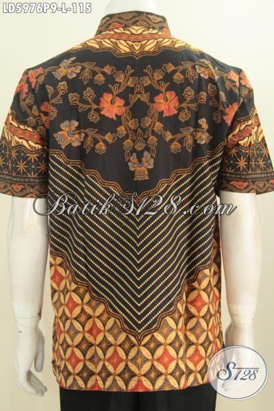 Produk Kemeja Batik Klasik Cowok Size L, Hem Batik Solo Kawalitas Halus Cocok Buat Kondangan, Pakaian Batik Berkelas Modis Juga Buat Acara Formal