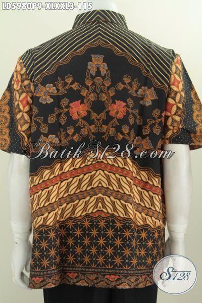 Aneka Pakaian Batik Pria Dewasa, Hadir Dengan Motif Klasik Nan Mewah, Baju Batik Proses Printing Buatan Solo Murah Tampil Mewah, Size XL – XXL