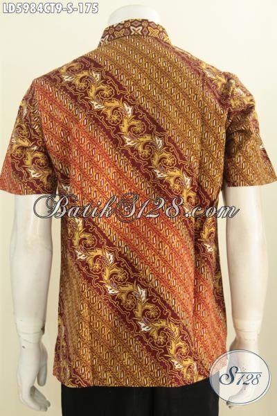 Produk Terbaru Busana Batik Cowok Masa Kini, Pakaian Batik Elegan Cap Tulis Yang Membuat Penampilan Lebih Tampan, Size S