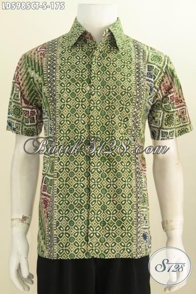 Bajau Kemeja Batik Gaul Kombinasi Motif Klasik Dan Modern Proses Cap Tulis, Hem Batik Istimewa Tanpa Furing Size  Harga Terjangkau