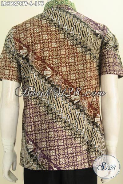 Produk Terbaru Pakaian Batik Pria 2016, Hem Batik Mewah Halus Harga Terjangkau Proses Cap Tulis, Size S