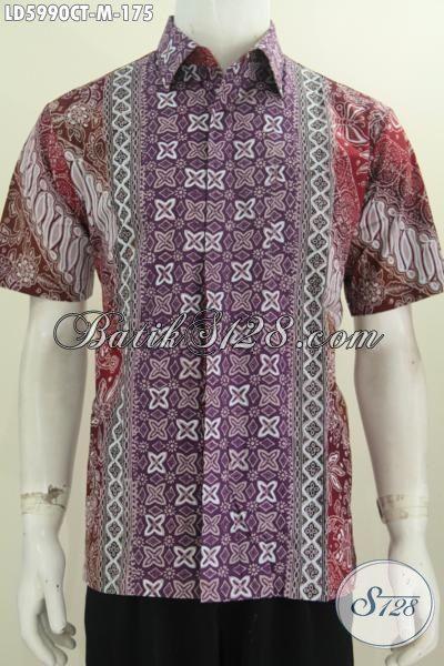 Busana Batik Fashion Khas Jawa Tengah, Baju Batik Keren Kwalitas Bagus Harga Terjangkau Proses Cap Tulis Daleman Tidak Pakai Furing, Size M