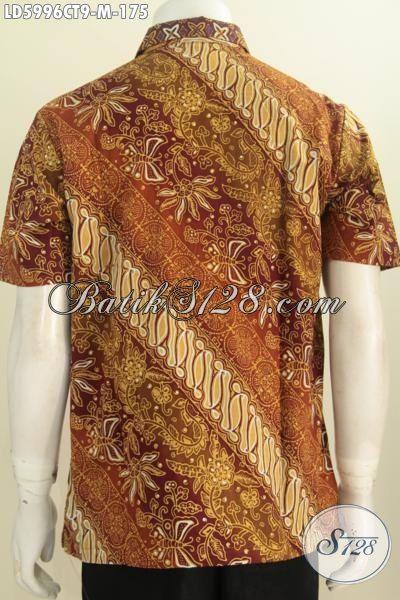 Jual Baju Batik Online, Pakaian Batik Istimewa Bahan Halus Motif Elegan Nan Mewah Proses Cap Tulis Untuk Tampil Gaya Dan Berkelas, Size M