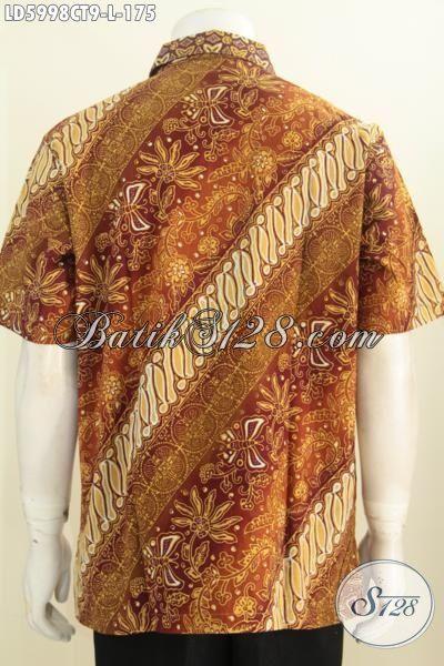 Produk Hem Batik Elegan Buatan Solo Asli, Kemeja Lengan Pendek Kwalitas Premium Harga Minimum Proses Cap Tulis Daleman Tidak Pakai Furing, Size L