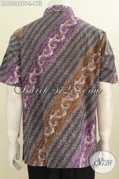 Baju Kerja Bahan Batik Model Lengan Pendek, Hem Batik Lelaki Muda Dan Dewasa Motif Bagus Bahan Adem Proses Cap Tulis Desain Istimewa Yang Mampu Bikin Penampilan Makin Ganteng Maksimal [LD6004CT-L]