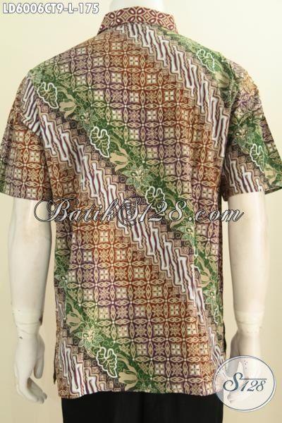 Agen Baju Batik Online Terlengkap, Jual Kemeja Batik Modis Proses Cap Tulis, Berbahan Adem Motif Trendy Untuk Penampilan Lebih Sempurna, Size L