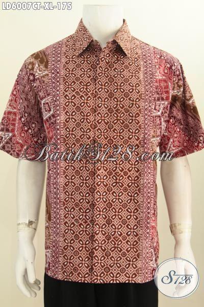 Batik Hem Elegan Khas Jawa Tengah, Baju Batik Pria Dewasa Ukuran XL Motif Bagus Cap Tulis Harga 175K