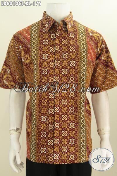 Baju Batik Modis Berkelas Trend Masa Kini, Jual Hem Batik Elegan Warna Mewah Yang Membuat Cowok Terlihat Mempesona, Size XL