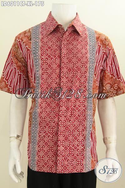 Pakaian Batik Pria Muda Dan Dewasa Size XL, Hem Batik Elegan Warna Bagus Bahan Adem Proses Cap Tulis Tidak Di Lengkapi Furing