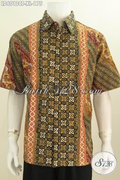 Baju Hem Motif Kombinasi , Pakaian Batik Fashion Yang Membuat Lelaki Tampak Modis Dan Gaya, Berbahan Halus Proses Cap Tulis Size XL