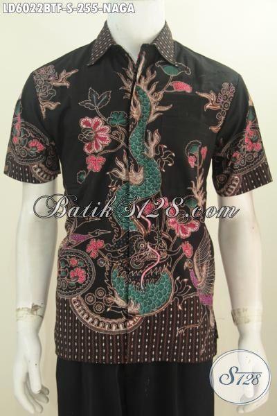 Kemeja Batik Kombinasi Tulis Motif Naga Ukuran S Keren Buat Hangout, Baju Batik Istimewa Motif Terkini Bahan Halus Buatan Solo Tampil Lebih Modis Dan Istimewa, Size S
