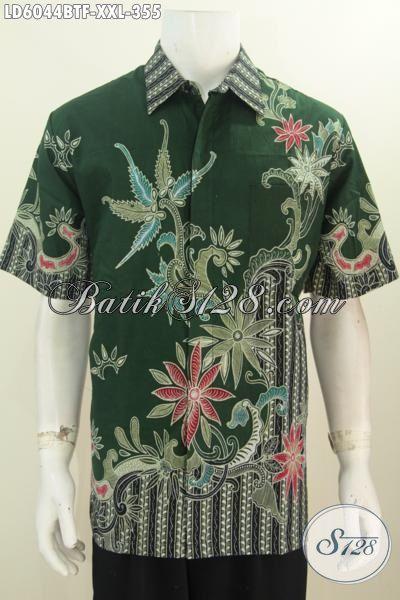 Sedia Baju Batik Halus Dan Mewah, Produk Pakaian Batik 3L Bahan Adem Proses Kombinasi Tulis Size Jumbo Untuk Pria Gemuk Dengan Daleman Pake Furing Untuk Tampil Terlihat Lebih Tampan
