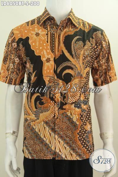 Hem Batik Elegan Lengan Pendek Motif Klasik Nan Berkelas, Baju Batik Kombinasi Tulis Halus Daleman Tidak Pakai Furing, Size S