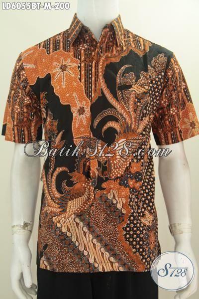 Kemeja Batik Elegan Halus Mewah Harga Terjangkau, Produk Busana Batik Lengan Pendek Proses Kombinasi Tulis Bahan Adem Size M Untuk Lelaki Muda Terlihat Berwibawa