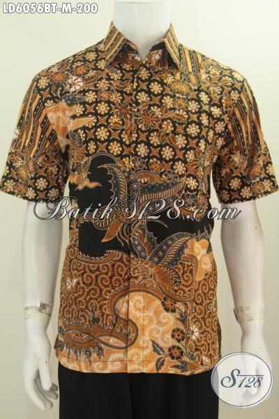Batik Keren Elegan Motif Klasik Untuk Anak Muda, Busana Batik Jawa Tengah Untuk Seragam Kerja Proses Kombinasi Tulis Hanya 200 Ribu, Size M