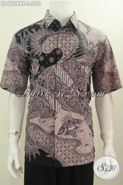 Baju Batik Hem Keren Halus Cocok Untuk Hangout, Produk Kemeja Batik ELegan Kombinasi Tulis Pas Untuk Kerja Kantoran Tampil Berkelas, Size L
