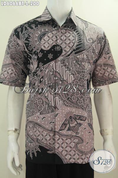 Baju Batik Istimewa Harga Biasa, Pakaian Batik Modis Dan Elegan Bahan Halus Motif Mewah Proses Kombinasi Tulis Model Lengan Pendek, Size L