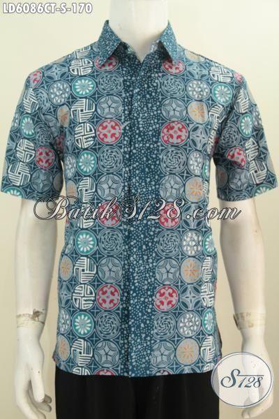 Hem Batik Trendy Kwalitas Bagus Model Lengan Pendek Motif Unik Proses Cap Tulis 100 Ribuan, Size S