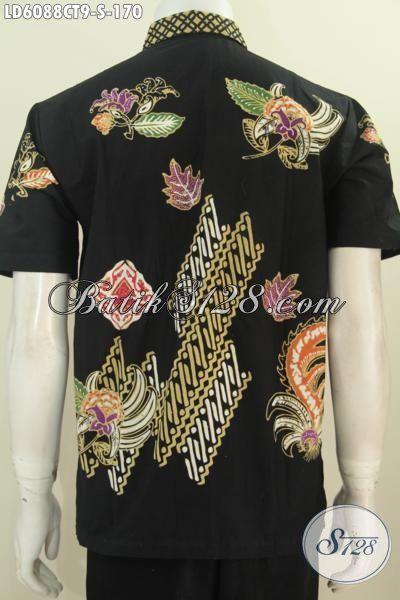 Kemeja Batik Keren Bahan Adem Proses Cap Tulis, Produk Busana Batik Lelaki Masa Kini Untuk tampil Modis Dan Keren, Size S