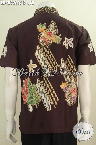 Pakaian Batik Halus Size Bahan Adem Lengan Pendek Motif Trendy Proses Cap Tulis Asli Buatan Solo Untuk Pria Muda Tampil Makin Bergaya