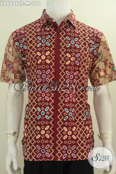 Hem Batik Kwalitas Bagus Proses Cap Tulis, Pakaian Batik Modis Bahan Adem Trend Masa Kini Untuk Kerja Dan Jalan-Jalan, Size M
