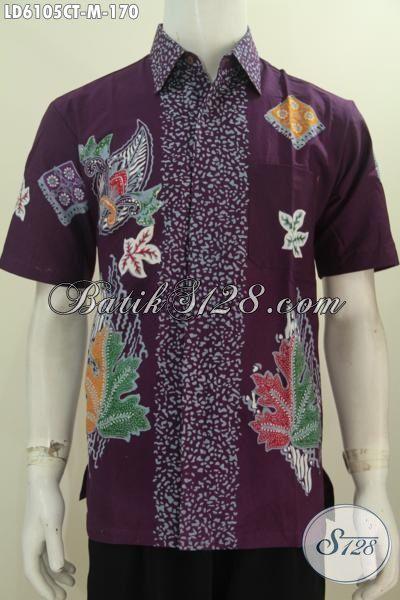 Hem Batik Modis Bahan Adem Motif Keren Proses Cap Tulis, Pakaian Batik Lelaki Muda Harga 100 Ribuan Kwalitas Bagus Warna Mewah Untuk Tampil Lebih Istimewa [LD6105CT-M]